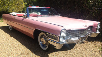 Cadillac Convertible wedding car for hire in Egham, Surrey