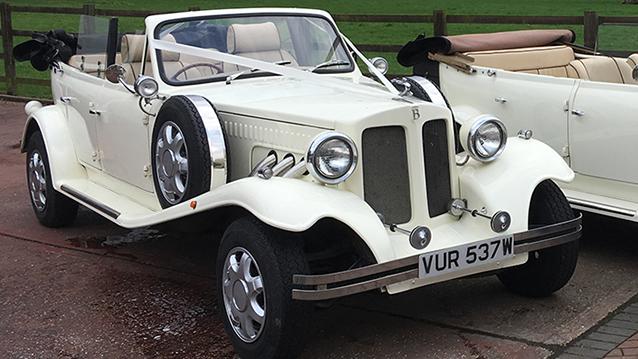 Beauford Convertible wedding car for hire in Hemel Hempstead, Hertfordshire