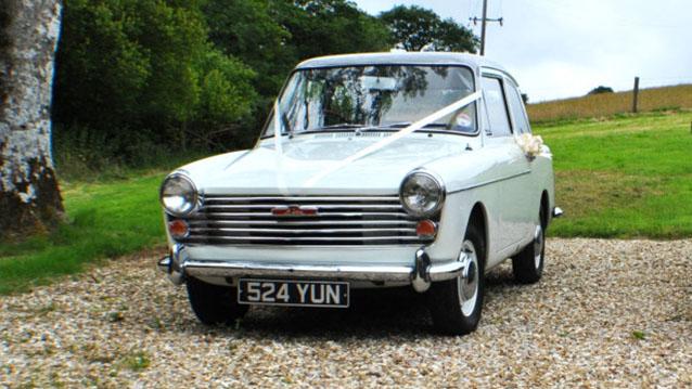 Austin A40 Farina wedding car for hire in Meshaw, Devon