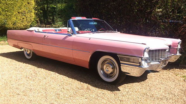 Cadillac Convertible wedding car for hire in Egham, Surrey