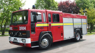 Fire Engine wedding car for hire in Fareham, Hampshire