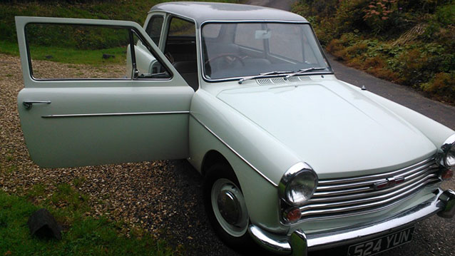 Austin A40 Farina wedding car for hire in Meshaw, Devon