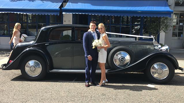 Rolls-Royce Phantom II Continental LWB wedding car for hire in London