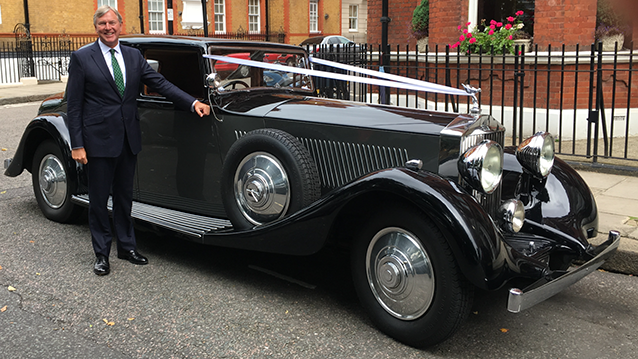Vintage Rolls-Royce Phantom Wedding Car Hire London - Premier Carriage