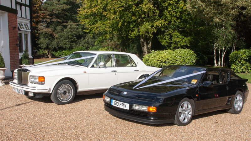 Renault Alpine A610 Turbo wedding car for hire in Deal, Kent