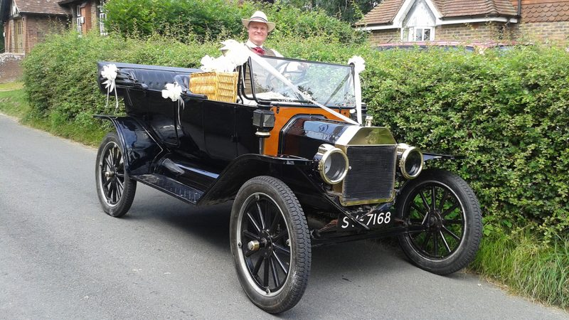 Ford Model 'T' Open Tourer wedding car for hire in Brighton, East Sussex