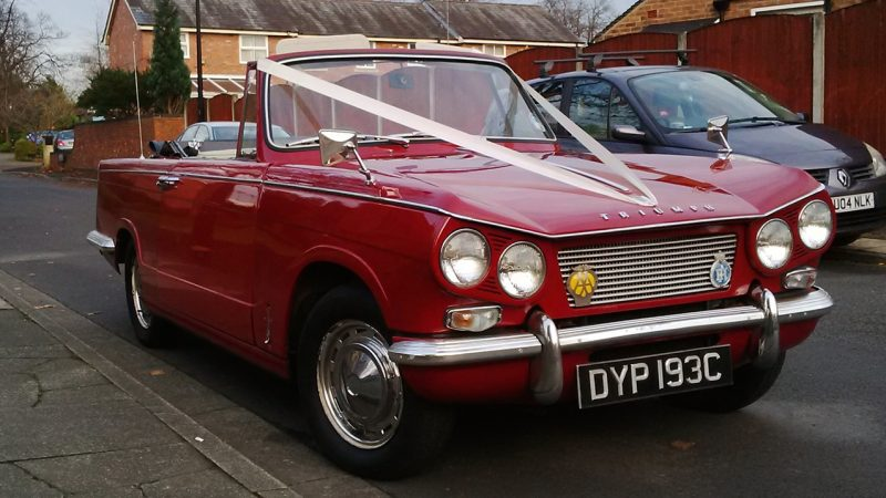 Triumph Vitesse 6 Sports wedding car for hire in Altrincham, Cheshire