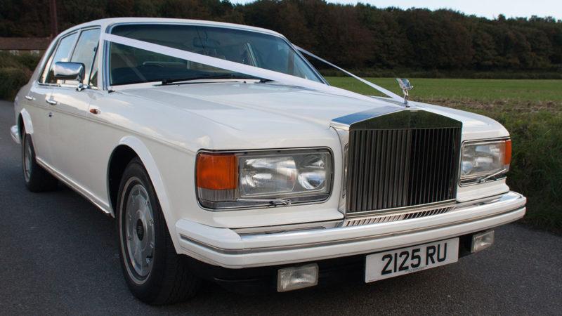 Rolls-Royce Silver Spirit wedding car for hire in Deal, Kent