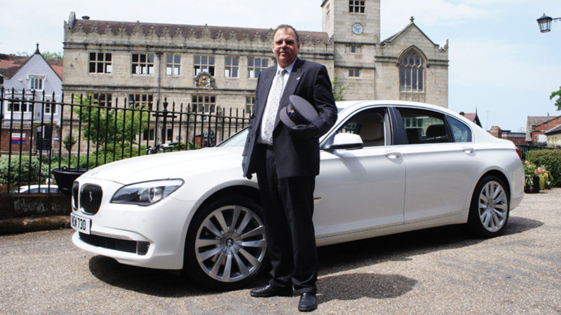 BMW 730 SE LWB wedding car for hire in Ilminster, Somerset
