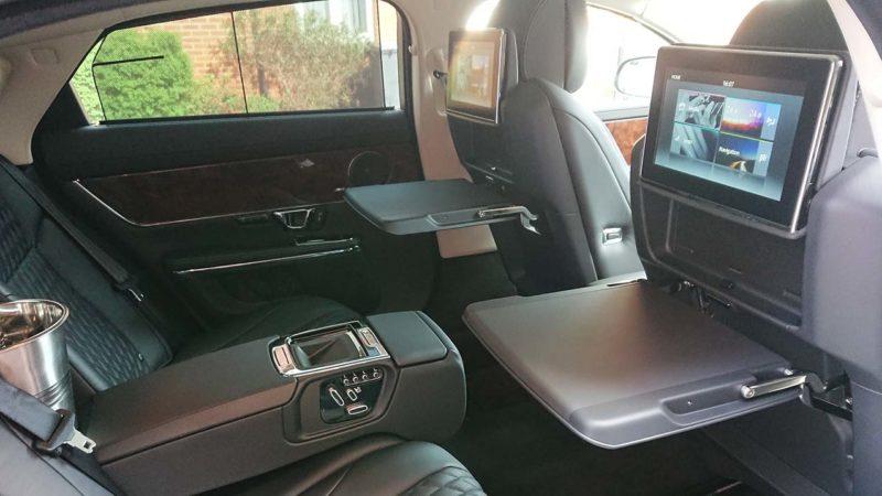 Jaguar XJ LWB Autobiography wedding car for hire in Ashford, Kent