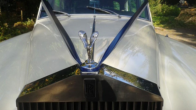 Rolls-Royce Silver Cloud I wedding car for hire in Hereford, Herefordshire