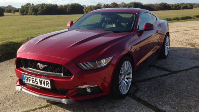 Ford Mustang 5.0L V8 wedding car for hire in Bournemouth, Dorset