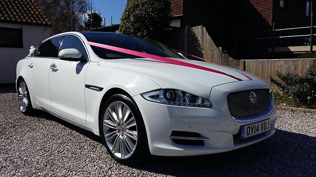 Jaguar XJ Portfolio LWB wedding car for hire in Deal, Kent