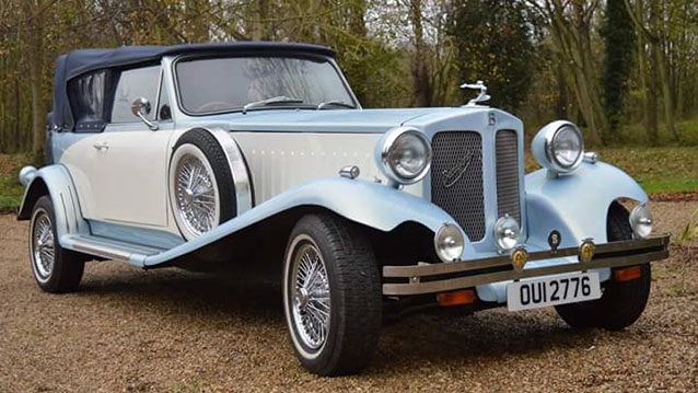 Beauford Convertible wedding car for hire in Deal, Kent