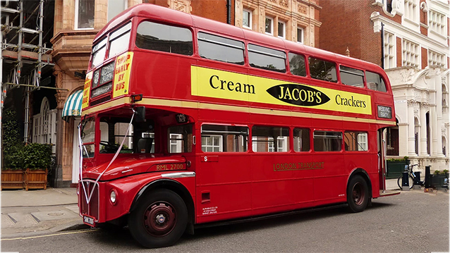 Routemaster London Bus wedding car for hire in Oxted, Surrey