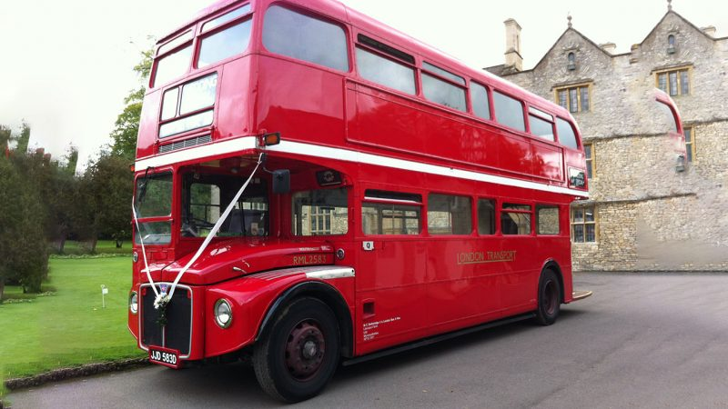 London Routemaster Bus wedding car for hire in Usk, South Wales
