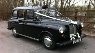 Taxi Cab wedding car for hire in Usk, South Wales