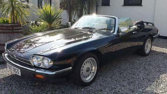 Jaguar XJS Convertible wedding car for hire in Deal, Kent