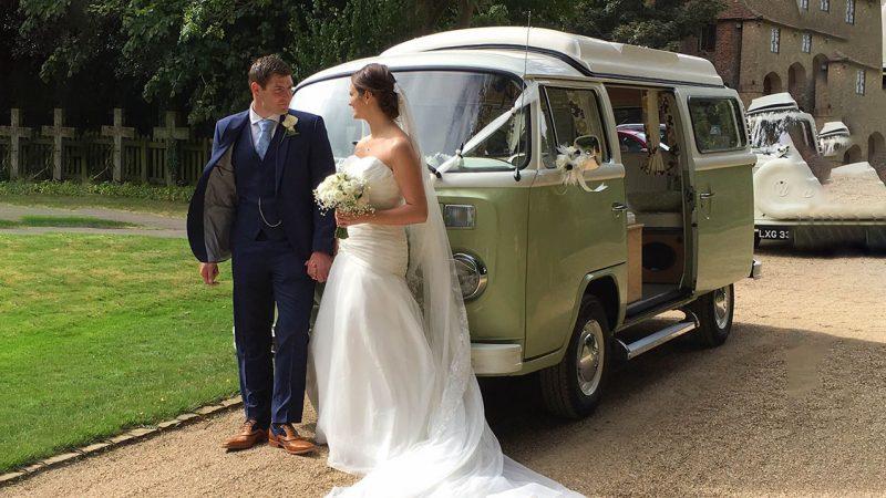 Volkswagen Campervan T2 wedding car for hire in Marlow, Buckinghamshire
