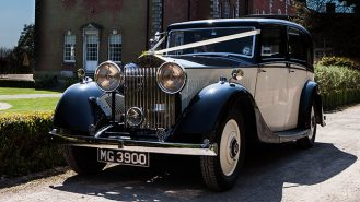 Rolls-Royce 20/25 Limousine wedding car for hire in Cuffley, Hertfordshire