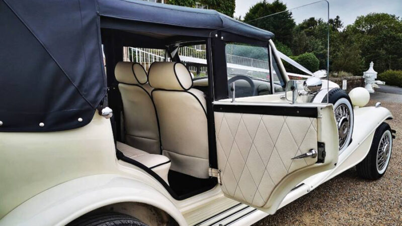 Beauford Convertible wedding car for hire in Leeds, West Yorkshire