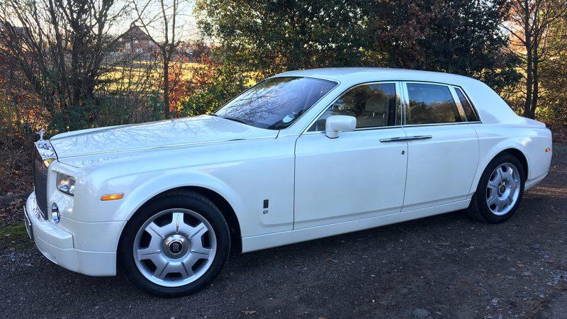 Rolls-Royce Phantom wedding car for hire in Potters Bar, Hertfordshire