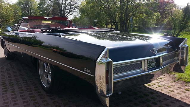 Cadillac De Ville Convertible wedding car for hire in Newport, South Wales