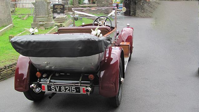 Vauxhall 14/40 Princeton Open Tourer wedding car for hire in Brixham, Devon