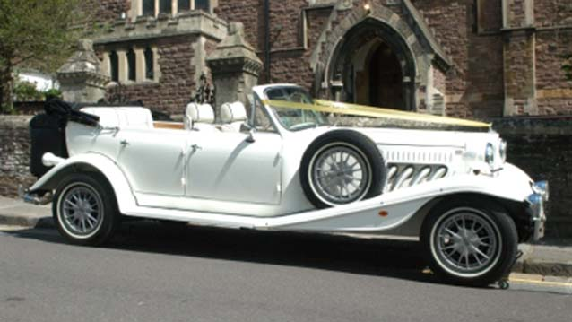 Beauford 4 Door Convertible wedding car for hire in Newport, South Wales