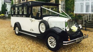 Asquith Limousine wedding car for hire in Brecon, South Wales