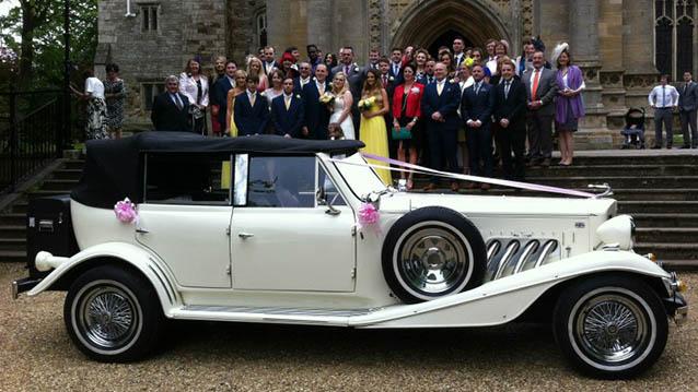 Beauford 4 Door Open Tourer wedding car for hire in Kettering, Northamptonshire