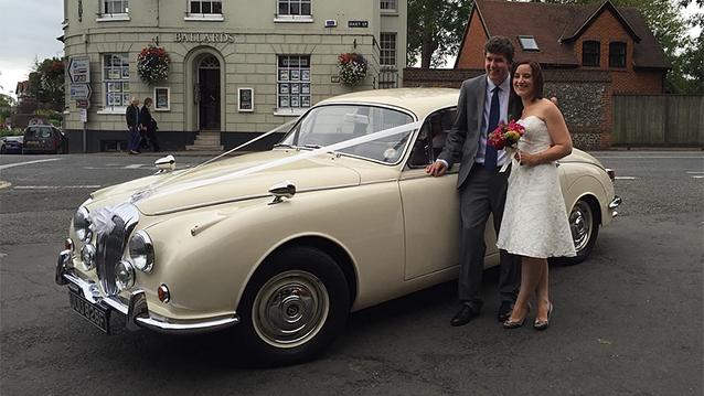 Daimler 250 V8 wedding car for hire in Henley-on-Thames, Oxfordshire