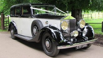 Rolls-Royce 25/30 Limousine wedding car for hire in Aylesbury, Buckinghamshire