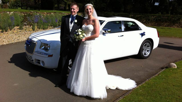 Chrysler 300c wedding car for hire in Kettering, Northamptonshire