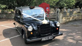 Taxi Cab wedding car for hire in Bedford, Bedfordshire