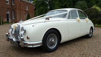 Jaguar MK II wedding car for hire in Bedford, Bedfordshire