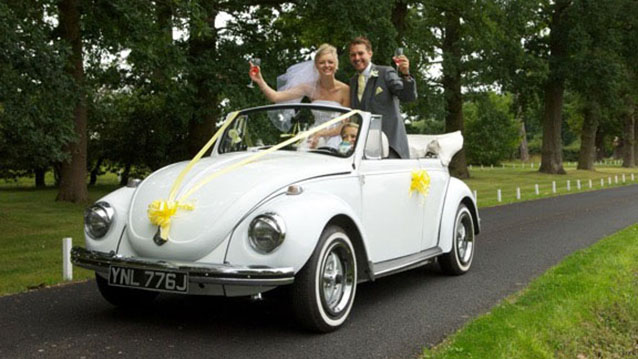 Volkswagen Beetle Karmann Convertible wedding car for hire in Chelmsford, Essex