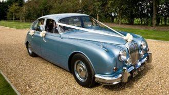 Daimler 250 V8 wedding car for hire in Bedford, Bedfordshire