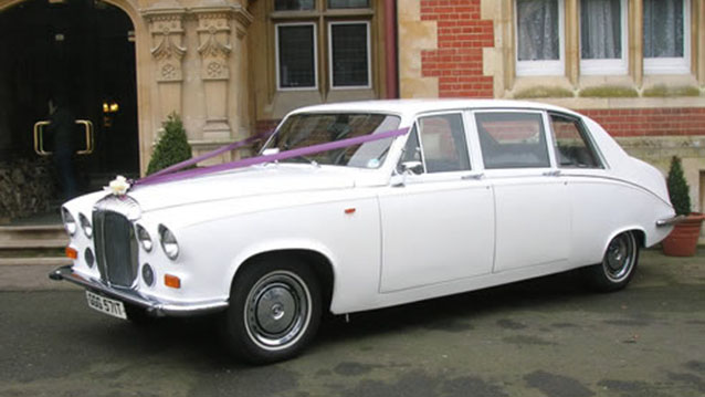 Daimler DS420 Limousine wedding car for hire in Aylesbury, Buckinghamshire