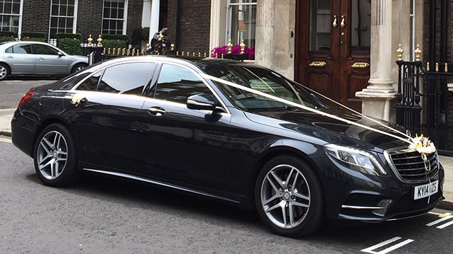 Mercedes 'S' Class 350 AMG LWB wedding car for hire in London