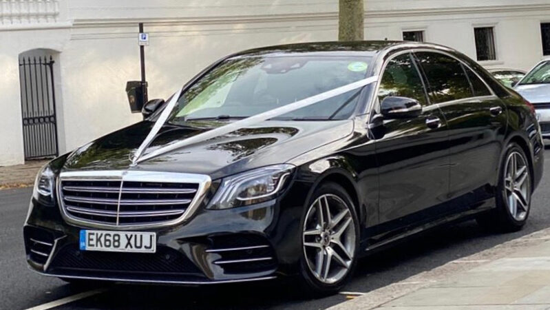 Mercedes 'S' Class wedding car for hire in London
