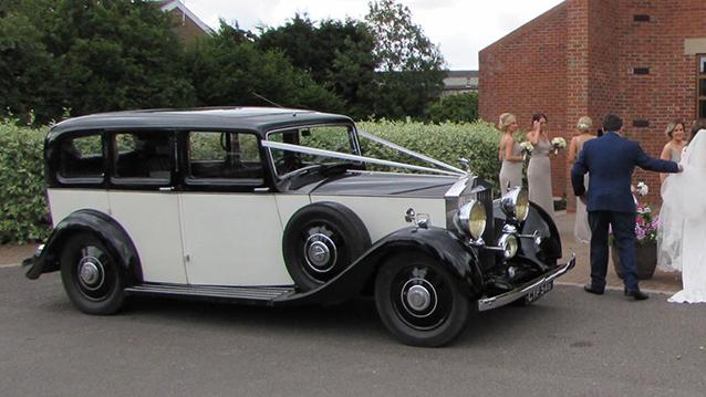 Rolls-Royce 25/30 Limousine wedding car for hire in Aylesbury, Buckinghamshire