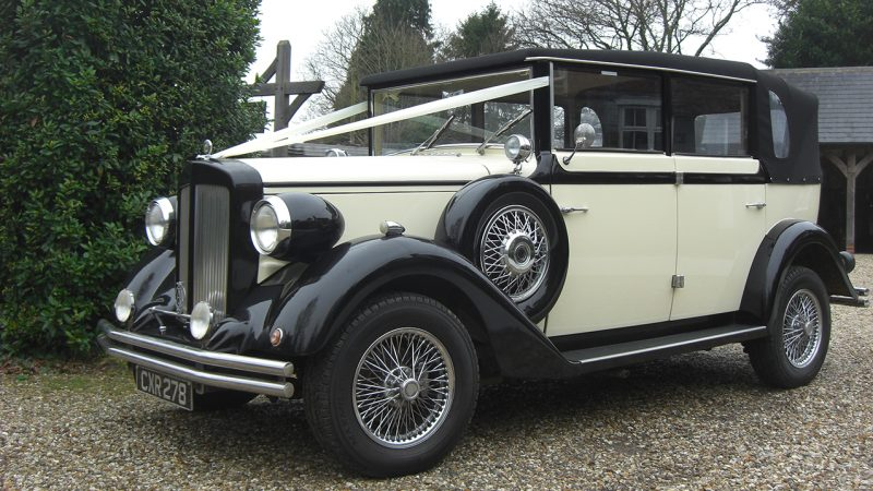 Regent Landaulette wedding car for hire in Uckfield, East Sussex