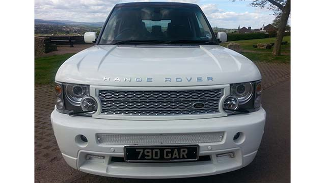Range Rover Vogue wedding car for hire in Newport, South Wales