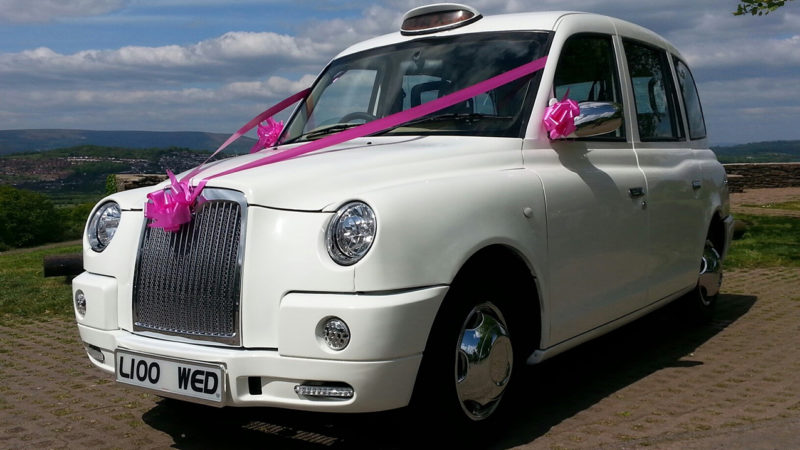 Taxi Cab wedding car for hire in Newport, South Wales