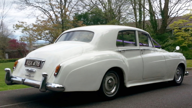 Rolls-Royce Silver Cloud I wedding car for hire in Newport, South Wales