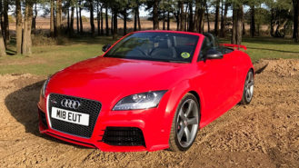 Audi TT RS Plus Convertible wedding car for hire in Southampton, Hampshire
