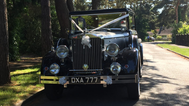 Regent Landaulette wedding car for hire in Ringwood, Hampshire