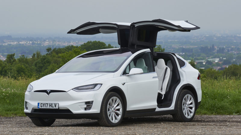 Tesla 'X' P100D wedding car for hire in Croydon, Surrey