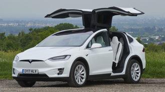 Tesla 'X' P100D wedding car for hire in Croydon, Surrey